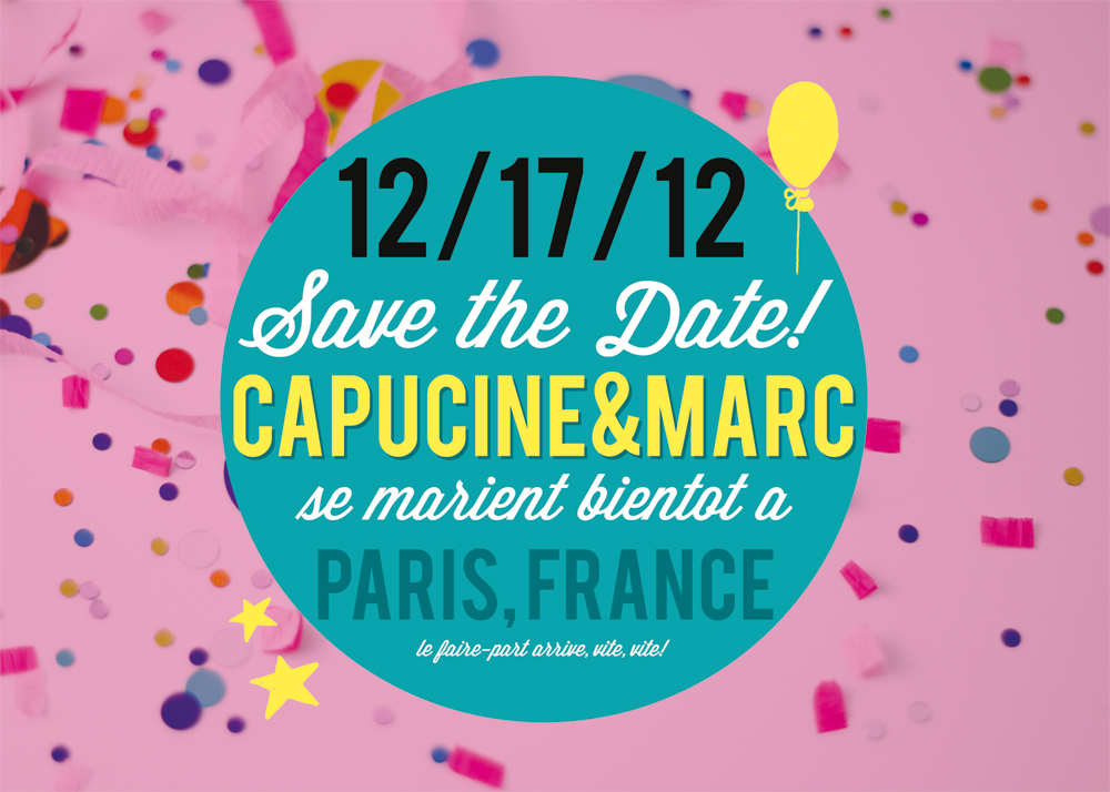 Le save the date de Pugly Pixel