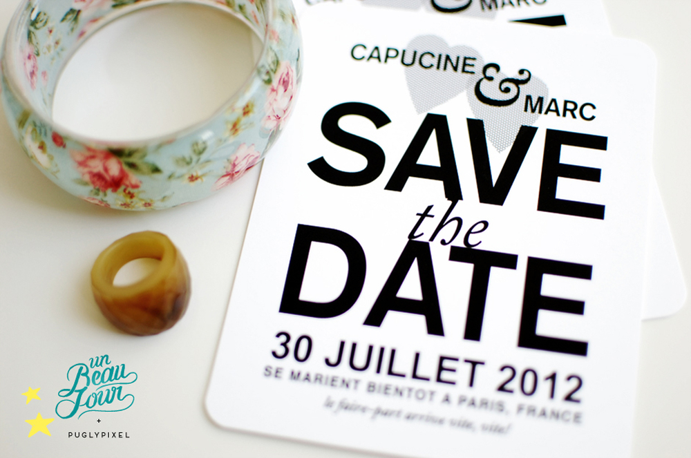 Save the date par Pugly Pixel
