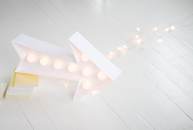 An easy marquee light