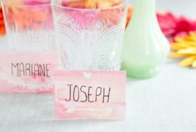 DIY – Watercolor place cards